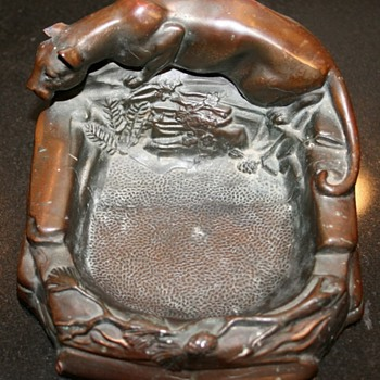 Bronze Panther Ashtray? - Tobacciana