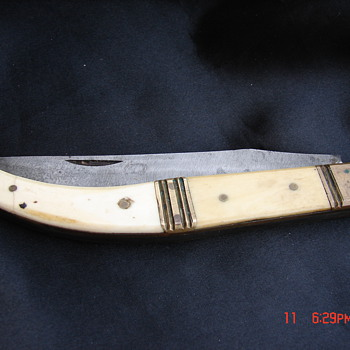 Antique Handmade Folding Knife Long Foreign Unknown? - Tools and Hardware