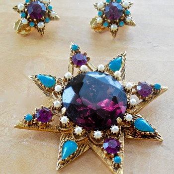 Florenza Brooch & Earrings