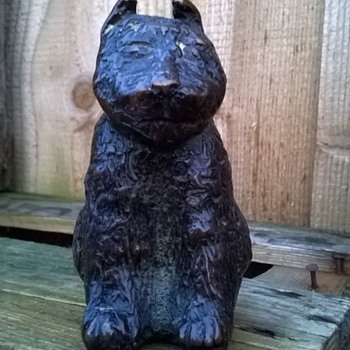 Bouvier des Flandres Bronze Figure Thrift Shop Find 6 Euro ($6.36)