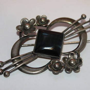 Large Arts and Crafts Silver Brooch - Arts and Crafts