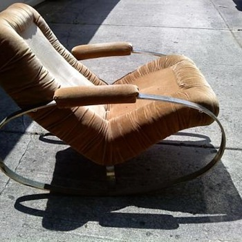 Chrome oval rockers chair - Mid Century Modern