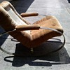 Chrome oval rockers chair