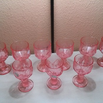 pink glasses I found in florida - Glassware
