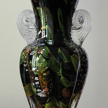 Stately Japanese glass vase  - Art Glass