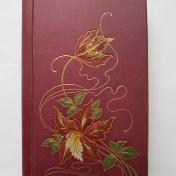 Embossed Jugendstil Postcard Album, containing embossed Christmas Cards