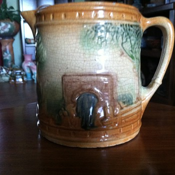 Roseville Milk Pitcher - The Bridge - Art Pottery