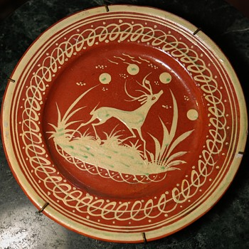 Four Tlaquepaque Slip-decorated Redware from Mexico