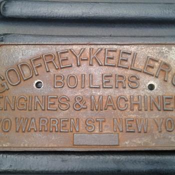 Godfrey Keeler Boiler Cast Iron Plaque