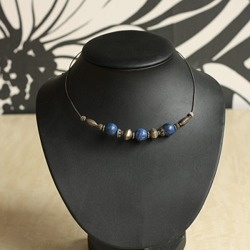 Silver and lapis lazuli necklace - Fine Jewelry
