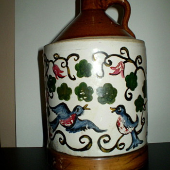 Antique jug/lamp