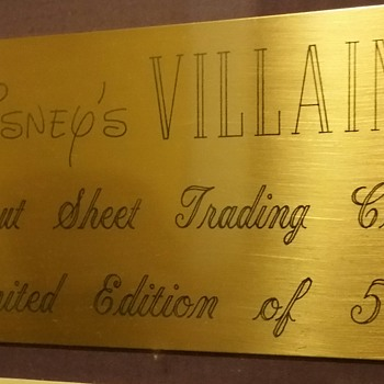 Disney villains trading cards limited edition  of 500