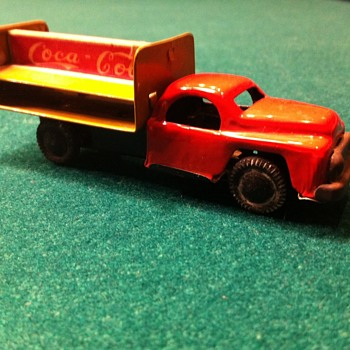 1950's Mar Linemar Coca Cola tin toy friction truck!! - Coca-Cola