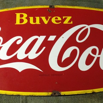 Porcelain French Coca Cola signs - Coca-Cola