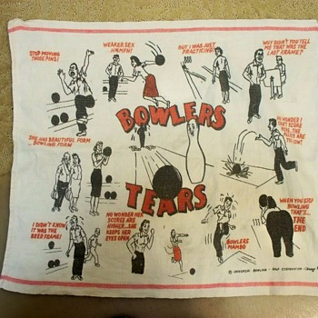 Sexist Vintage Bowling Towel,  Universal Bowling - Golf Corporation  - Rugs and Textiles