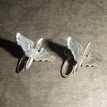 WW2 Army Air Corps Sweetheart earrings - Costume Jewelry