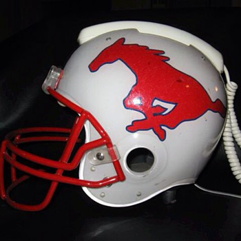 SMU Football Helmet phone 1976  - Football
