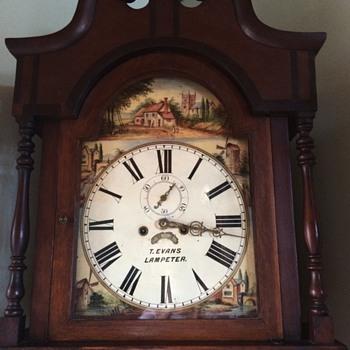 1830-1850 Longcase clock (T. Evans Lampeter)