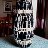 Mid Century Black and Gold Mosaic Style Vase /Unknown Maker/ Circa 1950-60