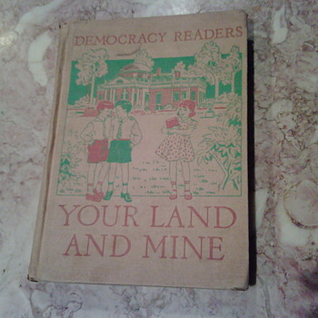 1940's Elementary School Textbook About Democracy