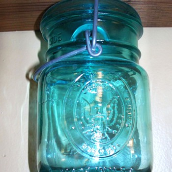 A beautiful blue jar...