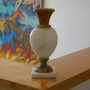 Vintage Italian Alabaster Urn - Art Nouveau