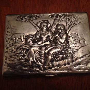 Unknown Maker, Beautiful None-the-less German Silver Cigarette Case