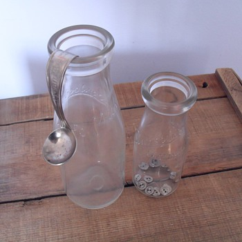 Silverwood's milk bottles. - Bottles
