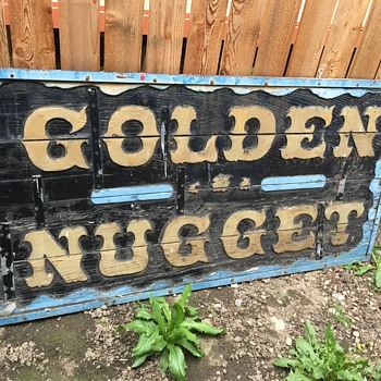 Vintage/antique Golden Nugget sign