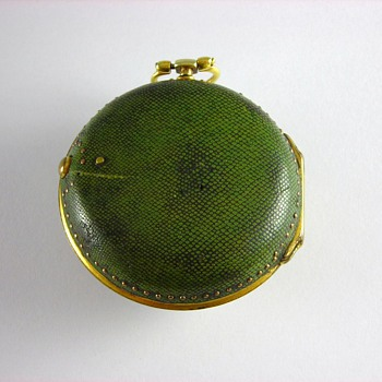 Rare 1767 English Verge Fusee with Shagreen Case - Pocket Watches