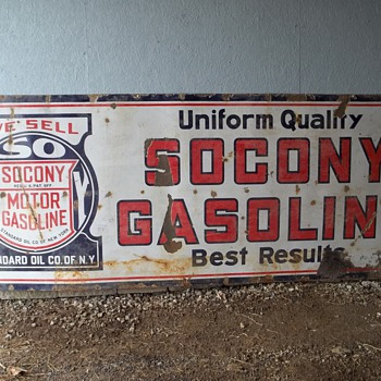 Old Socony Sign - Signs