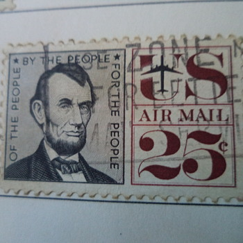 Abraham Lincoln Airmail 1960