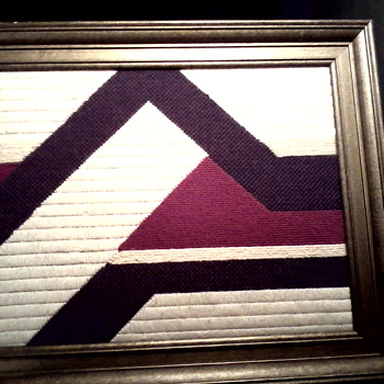 Vintage Needlepoint Abstract / Framed and Signed / Circa 1978 - Rugs and Textiles