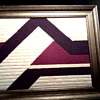 Vintage Needlepoint Abstract / Framed and Signed / Circa 1978