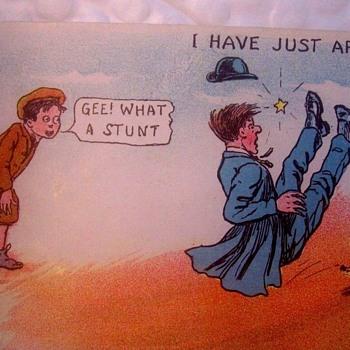 RF OUTCAULT  Comic Traveler--In More Ways than one!  1905 POSTCARD