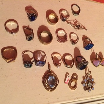 A Collection of Jewelry found at the dump - Fine Jewelry