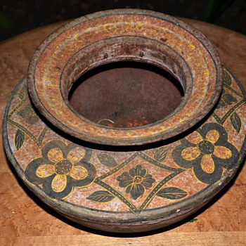 Beautifully Painted Metal Bowl