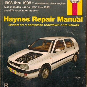 Haynes Repair Manual - VW Golf & Jetta - Classic Cars