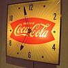 1960's, Glass Front, Lightup Coca-Cola Clock