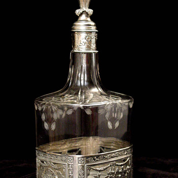Silver and Glass Decanters - Sterling Silver