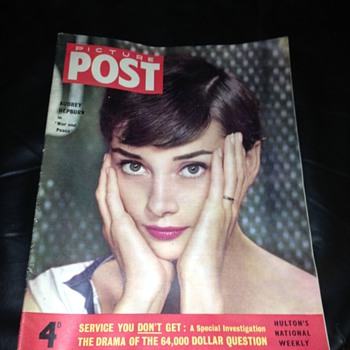 Picture post , Picturegoer, screen pictorial, movie film magazines.  Audrey Hepburn, Norma shearer, merlo Oberon 1930's 40's 50