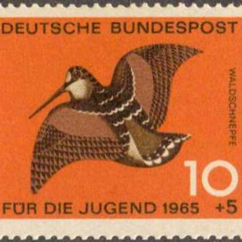 "1965 - W. Germany - ""Birds"" Postage Stamp Series - Stamps"