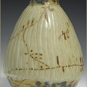 Three Karin Blom Royal Copenhagen Stoneware Japonist Style Vases - Art Pottery