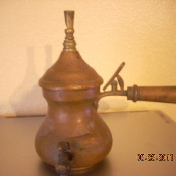 L.W. copper tea kettle