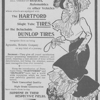 1902 Hartford & Dunlop Tires Advertisement