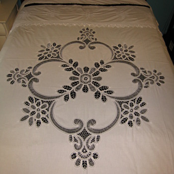 Cutwork Curtain or Bedcover - Rugs and Textiles
