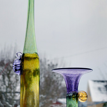 Windpipes - Bertil Vallien for Boda-fors 1970s. - Art Glass