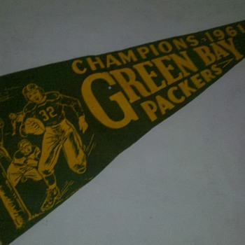 1961 Green Bay Packers Champions Pennant - Football