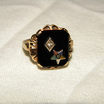 Antique Order of the Eastern Star Ring - Fine Jewelry