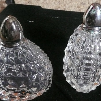 Pretty Little Unusual Salt & Pepper Shakers - Glassware